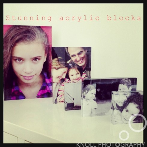 top five tips for displaying photos - acrylic blocks