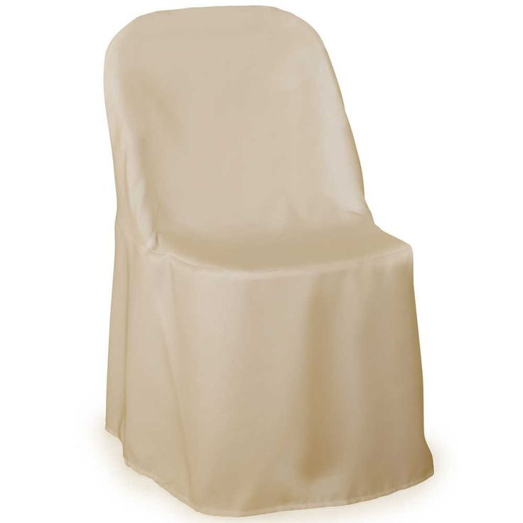 Set of 10 or more Polyester Folding Chair Cover, chair slipcover Ivory, wedding chair cover, all colors available by FantasyFabricDesigns on Etsy