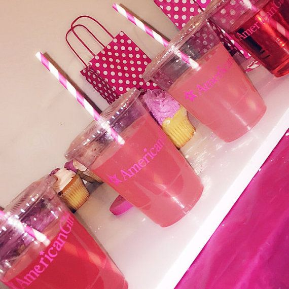 American girl party cupsamerican girl party by ohsoaudreycreations