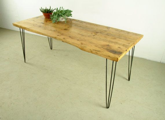 DINING TABLE RECLAIMED -Old reclaimed wood table, Industrial Furniture, Living room Furniture, Modern, Handmade and Sustainable Table Berlin