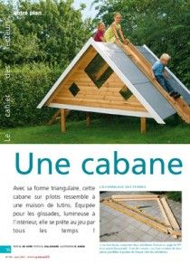 Une cabane toboggan