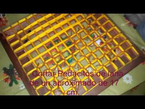 Como hacer un tapete de lana - YouTube