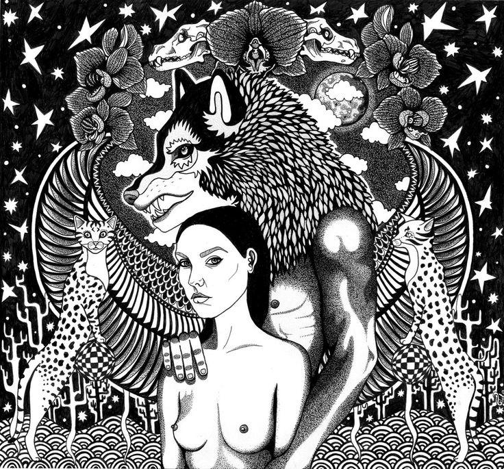 Kunst plakat // Art print // 'The Wolf'