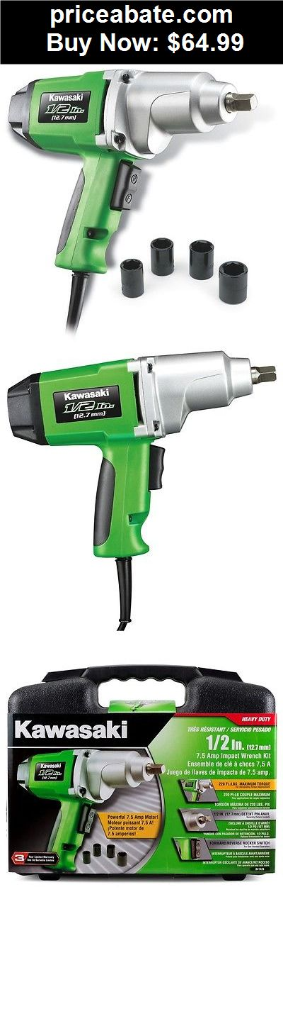 "Tools: Kawasaki 1/2"" 7.5 amp Heavy Duty Electric Impact Wrench Kit - 841426 - BUY IT NOW ONLY $64.99"