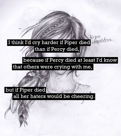 Well not more than Percy... I'd cry equally