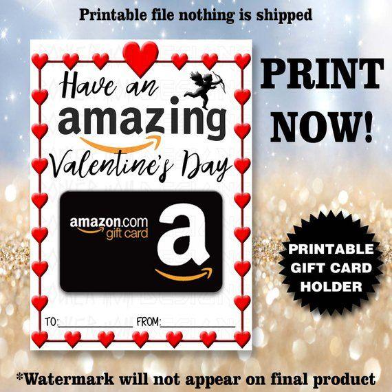 Valentine S Day Gift Card Holder Printable Instant Download