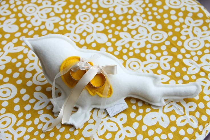 wedding ring bird pillow the bride has to get it