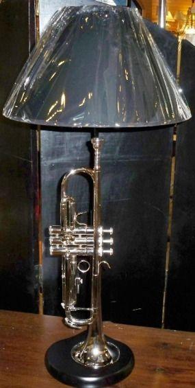 Musical Instrument Lamp Bases | Trumpet Lamp - Custom Lamps & Music Lamps USA Made - Contact Lamp ...