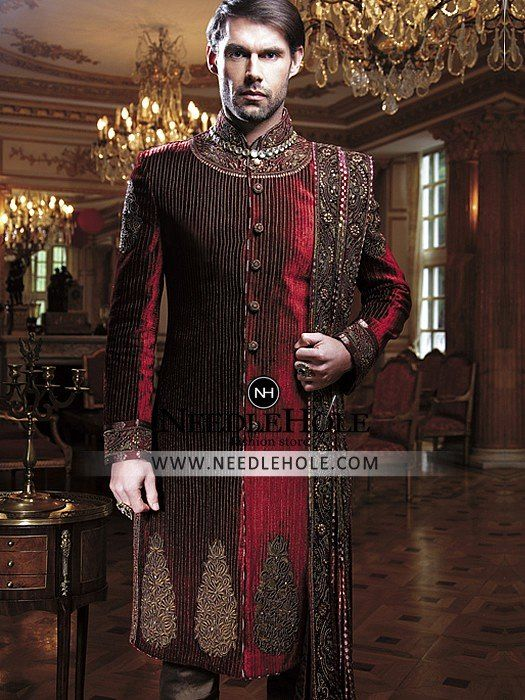 Glamorous Wedding Sherwani Dress By Amir Adnan. Browse New Arrivals Embroidered Pakistani Sherwani And Wedding Sherwani Uk Menwear Clothes At Needlehole.com