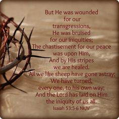Isaiah 53:5-6 Yom Kippur, the gift of atonement is Yeshua haMoshiach, baruch Hu…