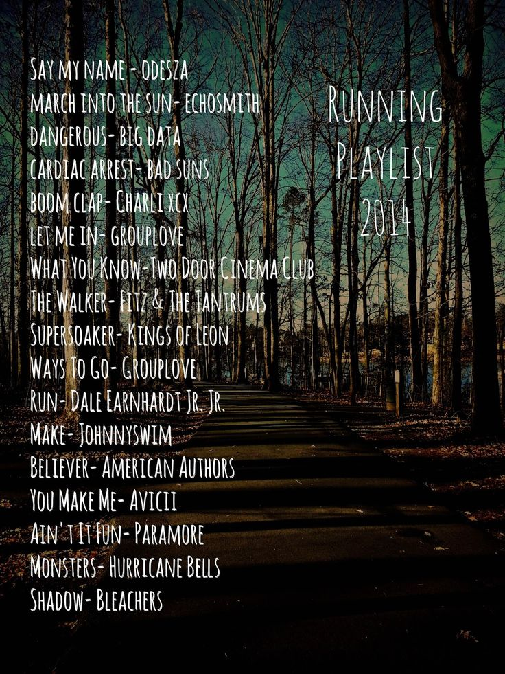 Running Playlist 2014