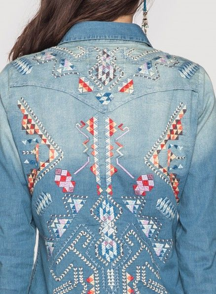 We have this! Love love love this Johnny Was 3J Workshop Kreley Embroidered Western Shirt - #CowgirlChic Call us if you are interested! 979.966.0555 #CottageGatherings