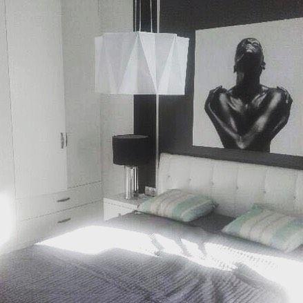 Good dreams / good day  New 2kul flat in Warsaw #bedroom #2kulproject #interiordesign #warszawa #blackandwhite #project