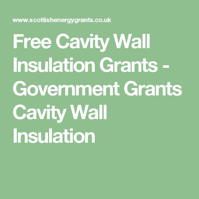 Free Cavity Wall Insulation Grants - Government Grants Cavity Wall Insulation