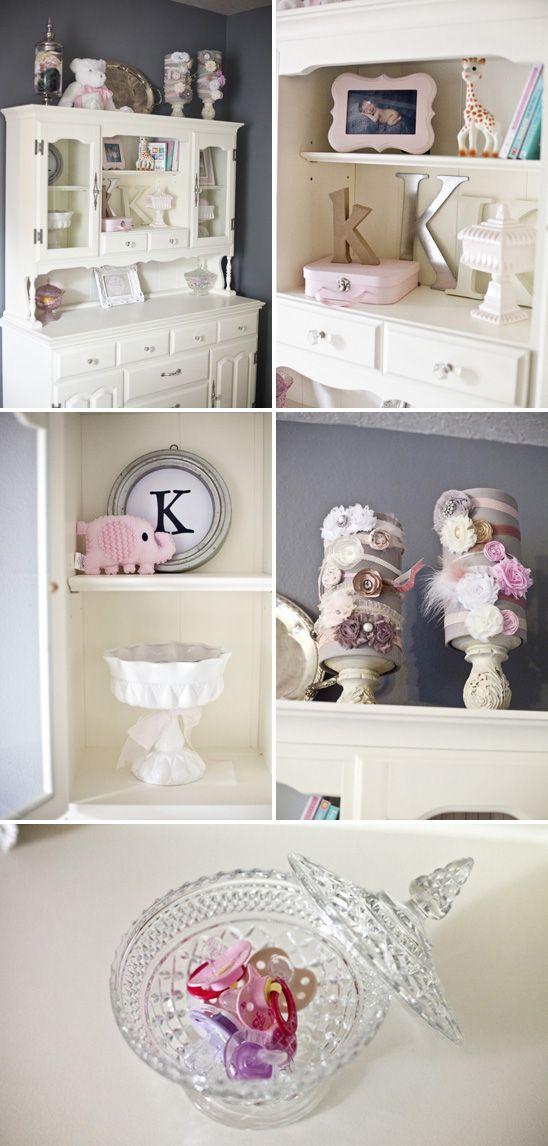Quartinho Cinza e Rosa Chique quarto rosa quarto menina quarto cinza decoração menina decoração