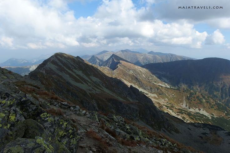 Western Tatras mountains. Hiking trail Rohace