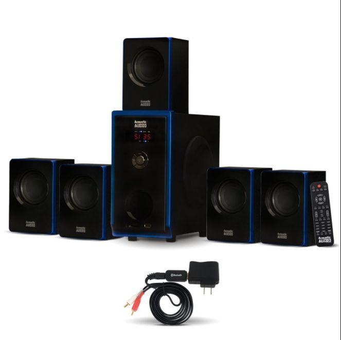 Speaker System Surround Sound Home Theater 5.1 Channel Plug and Play 6 Pieces #AcousticAudio