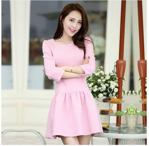 Sweet Elegant Lady Autumn  Dress [Korean fashion]