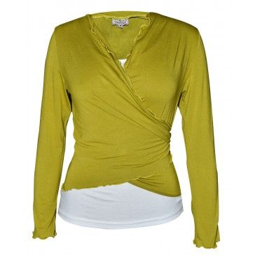 Winter Wrap Top - Lime