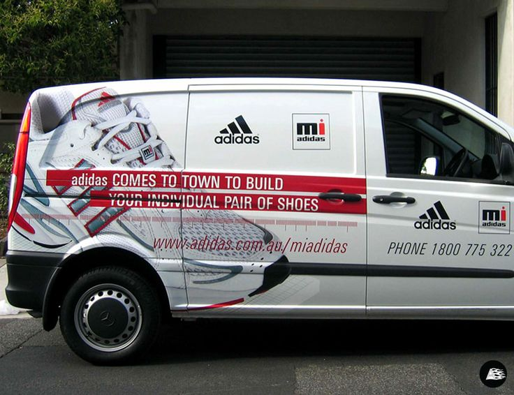 Adidas van wrap decals