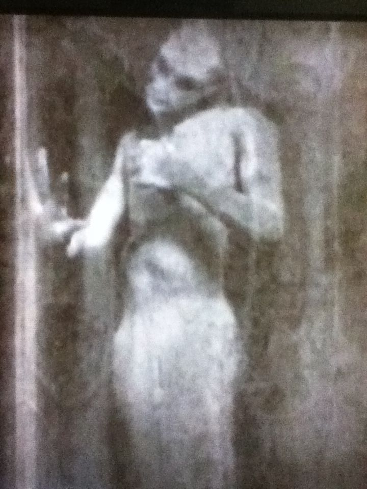 """Actual recovered photo of P.T. Barnum's """"The Real Mermaid"""" before the evidence was destroyed by a fire that took place before the public appearance. This is the only known photo to exist. This is the mermaid in the tank. #bizarre #strange #weird"""