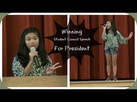 how to write a campaign speech for elementary school