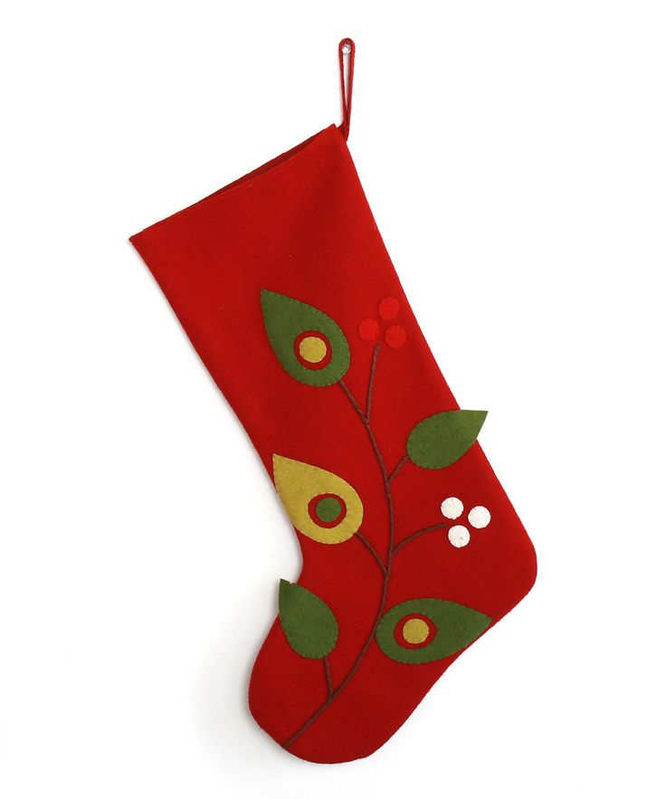take a look at this tag birds berries wool felt stocking on zulily today - Xmas Stockings