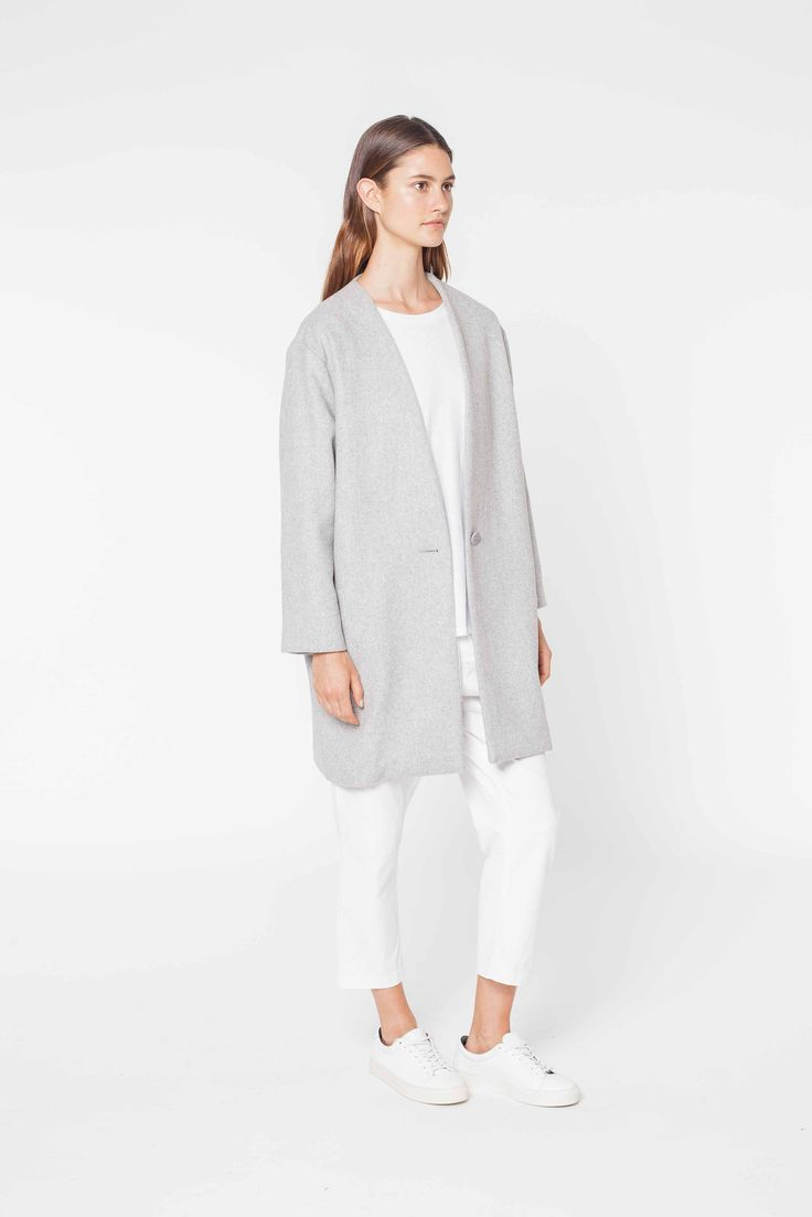 COCOON COAT GREY MARLE - Key Autumn Pieces - WOMENS Assembly Label