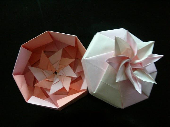 Origami Box - Octagon Flower