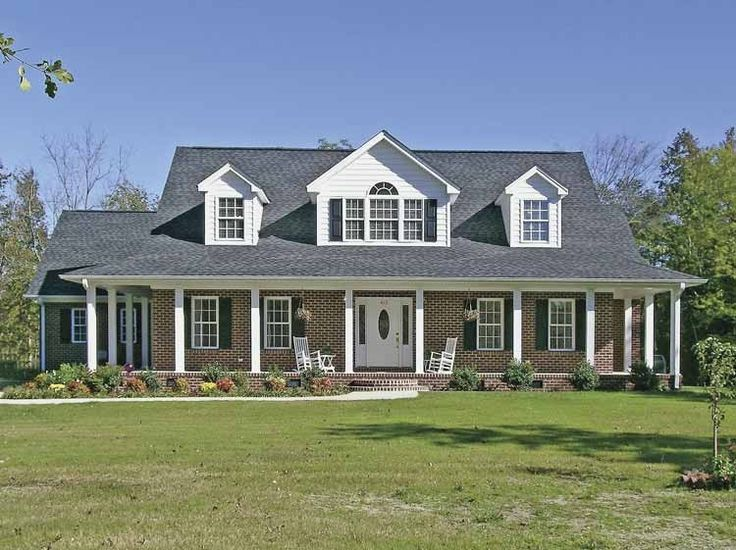 Eplans Farmhouse House Plan - Classic Brick Farm House Ranch - 3321 Square Feet and 4 Bedrooms(s) from Eplans - House Plan Code HWEPL68005