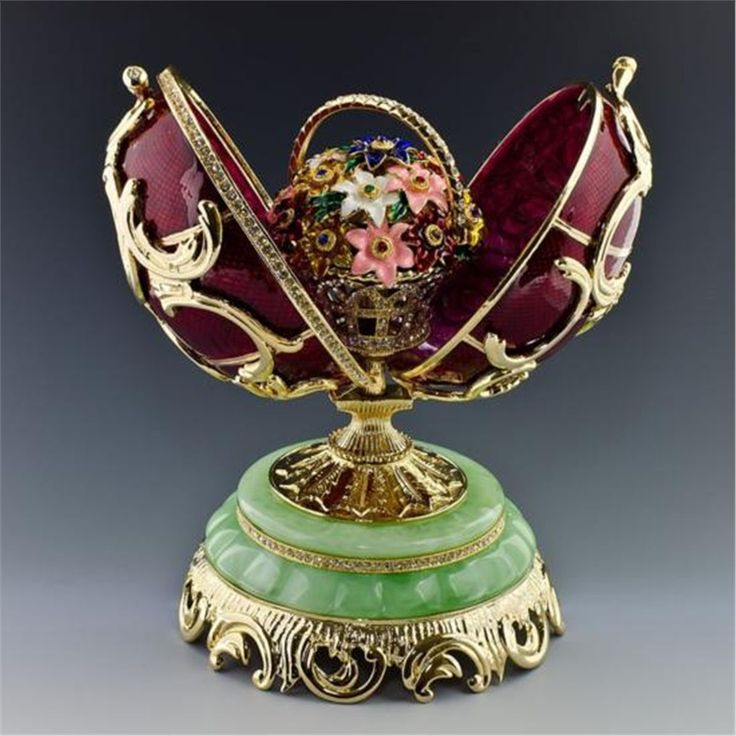 Spring Flowers Faberge Easter egg