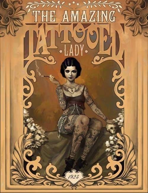 The Amazing Tattooed Lady - Rudy-jan Faber