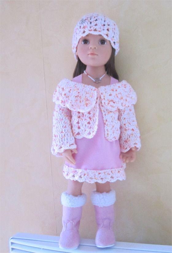 52- FICHE PATRON Tenue Givre pour poupée Hannah de GOTZ : Jeux, jouets par atelier-crochet