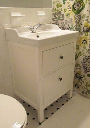 Bathroom Renovation Update How To Install An Ikea Hemnes Sink Vanities Sinks And Tips