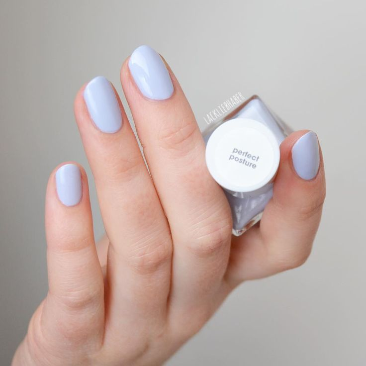 This pretty periwinkle blue nail polish from the new essie gel couture ballet nudes collection is total nail goals. It's an easy 2-step system. No base coat needed. No UV or LED lights. Don't forget the top coat though for a luxurious manicure that lasts up to 14 days! Shop 'perfect posture' here: http://www.essie.com/gel-couture/colors/Neutrals/perfect-posture.aspx