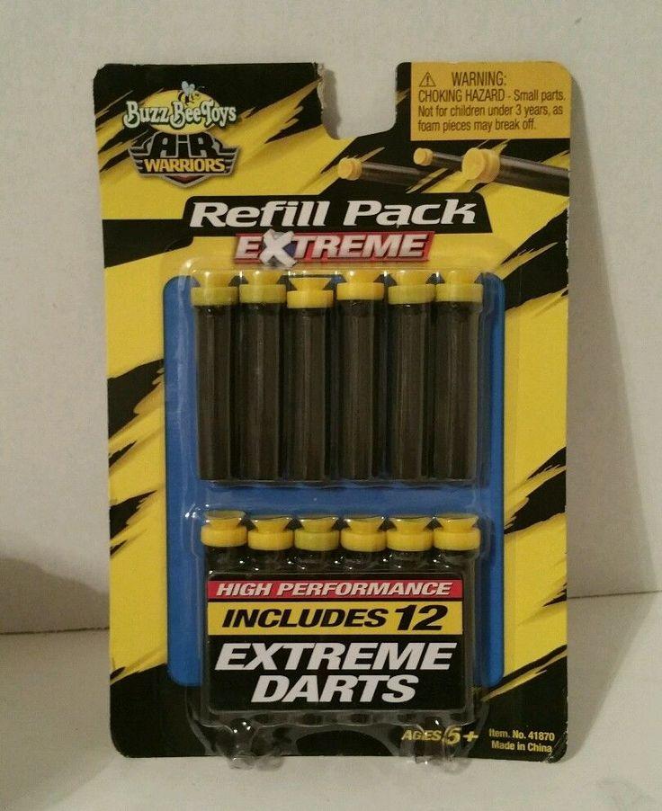 Buzz Bee Toys Air Warriors Refill Pack - 12 High Performance Extreme Darts #BuzzBeeToys