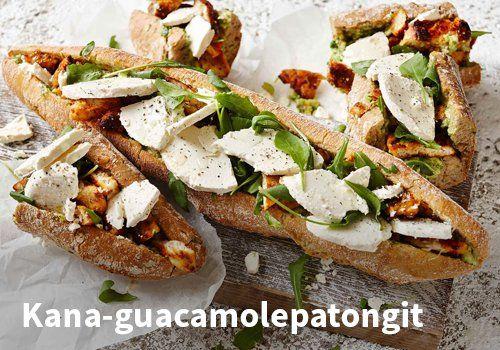 Kana-guacamolepatongit, Resepti: Valio #kauppahalli24 #valio #kana #guacamole #patonki #resepti #lounas #brunssi