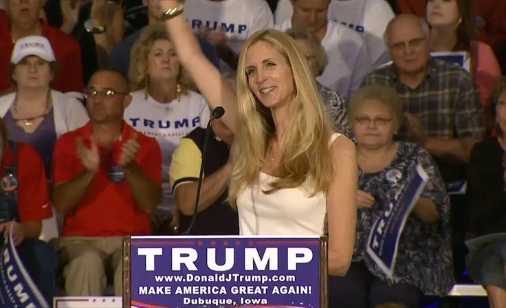 The week Ann Coulter's book 'In Trump We Trust' rolls out, she learns no, no we…