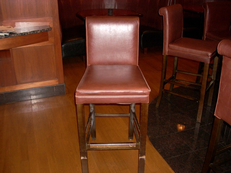 Chesters Chophouse in Wichita Ks re glue repair there bar stool at