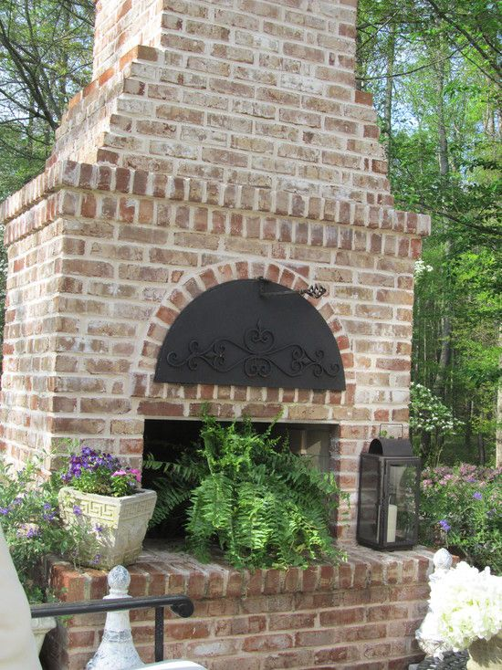 Charleston Style Patio and Outdoor Fieplace