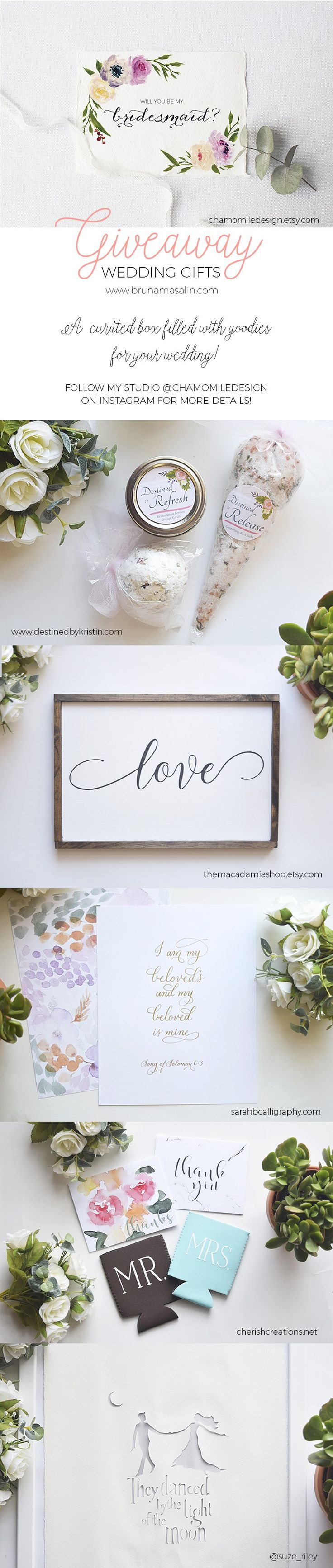 how to write thank you notes for wedding gift cards%0A Wedding Gifts Giveaway  Skincare produts  Calligraphy Prints  Thank You  notes  Bridesmaids cards