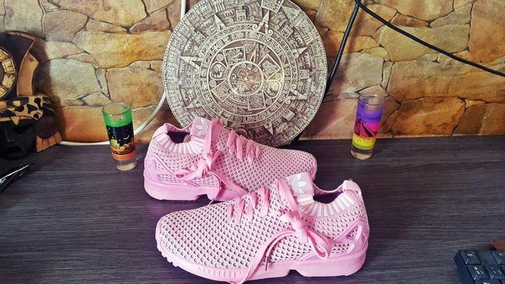 zapatillas Adidas rosa de tela fina . Super bonitas  y a buen precio n37