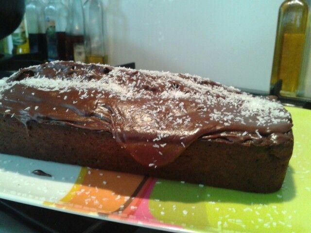 choco bananen cake
