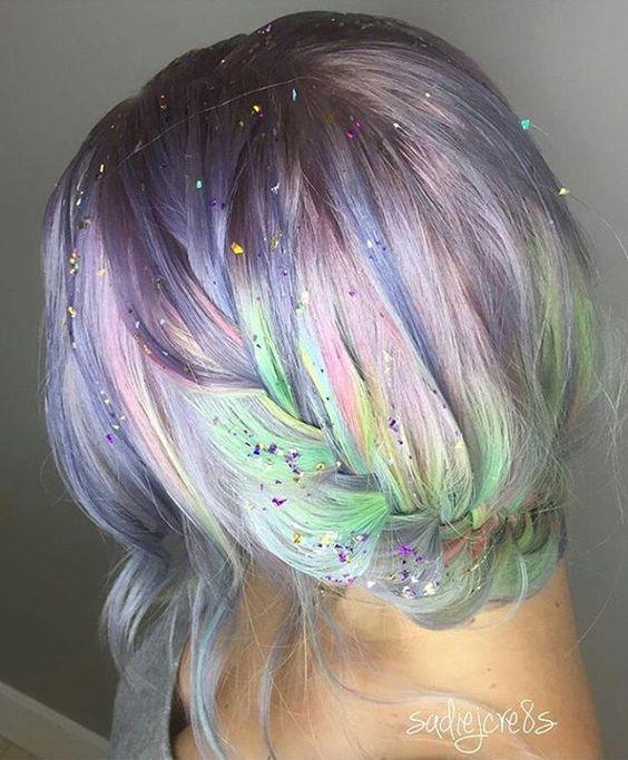 So pretty #unicornhair #rainbowhead More