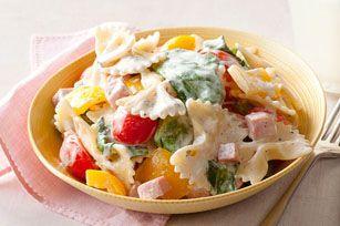 Pâtes au jambon et aux légumes - Une délicieuse façon d'utiliser les restes de jambon !