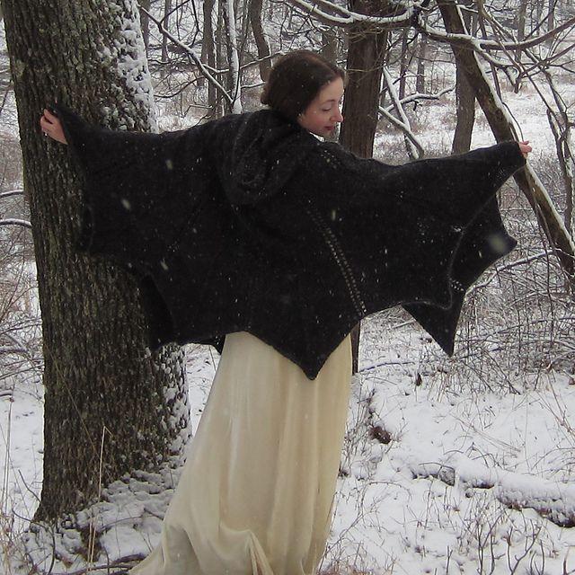 Ravelry: Bat Cape pattern by Kate Bellando @Lauren Davison Davison Barclay Dunn must make me one!