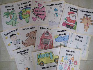 Classroom Freebies: Portable Word Walls