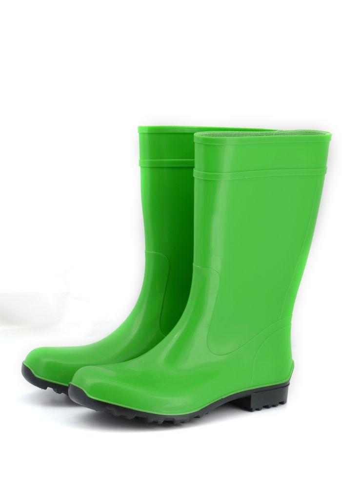 #Kalosze w pięknym soczyście zielonym kolorze. #ProduktPolski Producent Lemigo