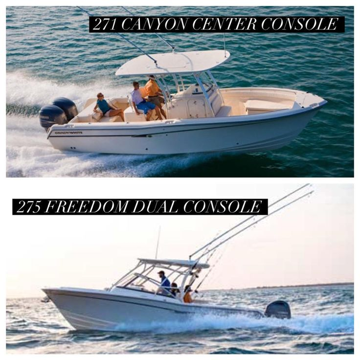 Which Grady-White Boats model would you choose? The 271 Canyon Center Console or the 275 Freedom Dual Console?