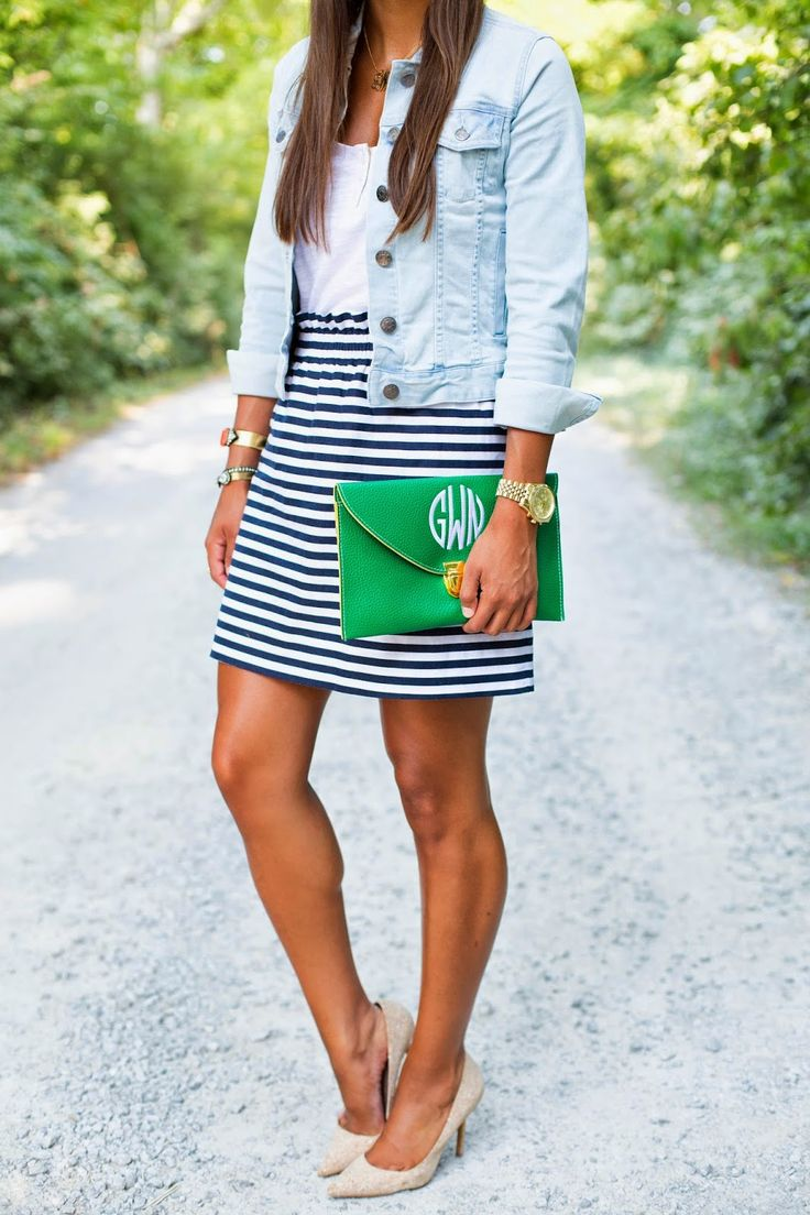 The 25  best ideas about Striped Skirts on Pinterest | Black white ...